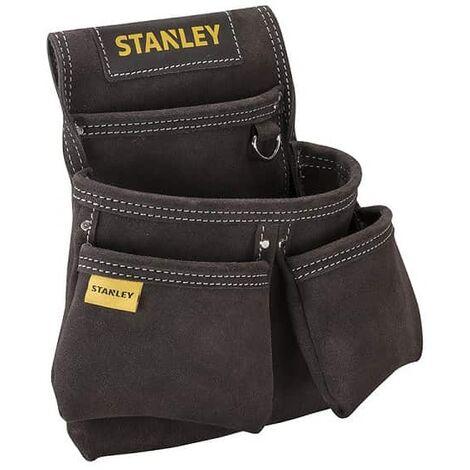 Porte-Outils En Cuir Qualité Supérieure - 4 Poches - STANLEY, STST1-80116