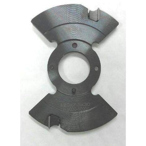 Porte-outils intermédiaire pour outil à rainer extensible 5-9.5 mm pour toupie arbre de 30 mm