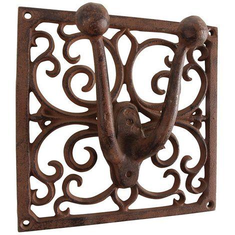 Porte outils jardin Antique en fonte 1 support