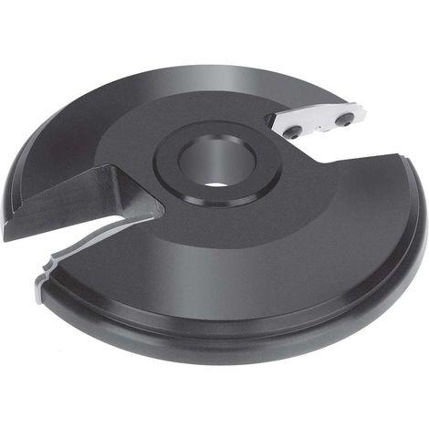 Porte outils plate bande Ø 180 mm pour toupie arbre de 50 mm - travail dessus