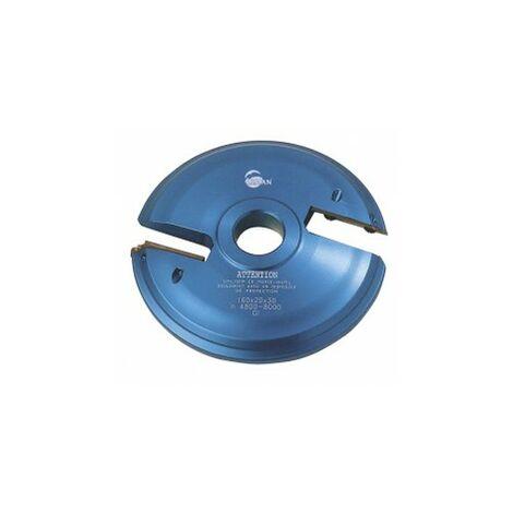 porte outils plate bande SUP toupie 30 mm livré avec 1 jeu de plaquettes carbure