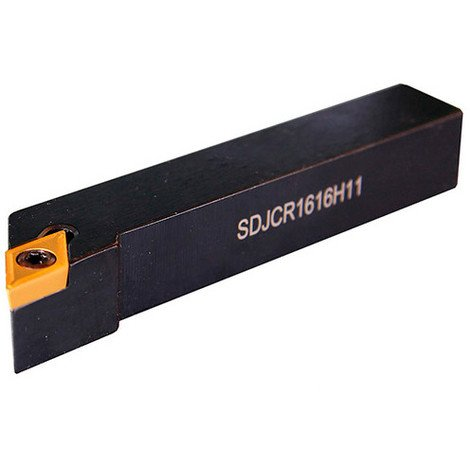 Porte outils tour métaux chariotage, dressage, copiage Droite 93° 20 x 20 x L 125 mm - SDJC R 2020 K11 - Métalprofi - -