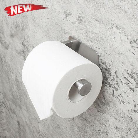 Porte-papier hygiénique auto-adhésif pour bâton de salle de bain sur le mur en acier inoxydable