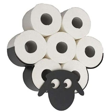 Porte-papier hygienique modele mouton agreable, boite de rangement pour serviettes en papier, 7 rouleaux muraux, porte-serviettes en papier mural sur les murs de la cuisine et de la salle de bain