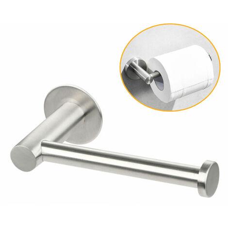 Porte-papier hygiénique, porte-rouleau de salle de bain auto-adhésif bâton sur le mur RUSTPROOF en acier inoxydable salle de bain porte-rouleau de papier de soie porte-rouleau matériel de bain accessoire de bain
