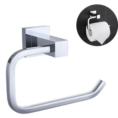 Porte-papier hygiénique Support mural adhésif Porte-rouleau de papier toilette Porte-papier hygiénique en acier inoxydable pour salle de bain