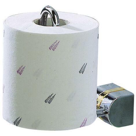 Porte-papier toilette Porte-rouleau Porte-papierhygiénique chrome brillant