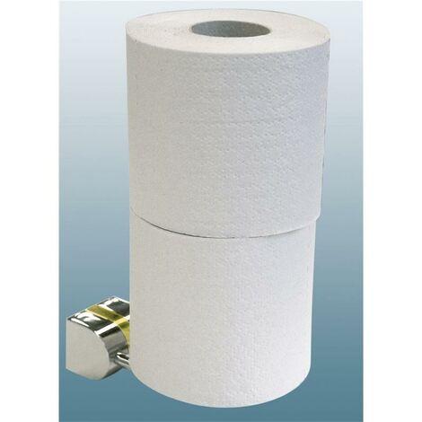 Porte-papier toilette rouleau de papier toilette réserve double chrome brillant