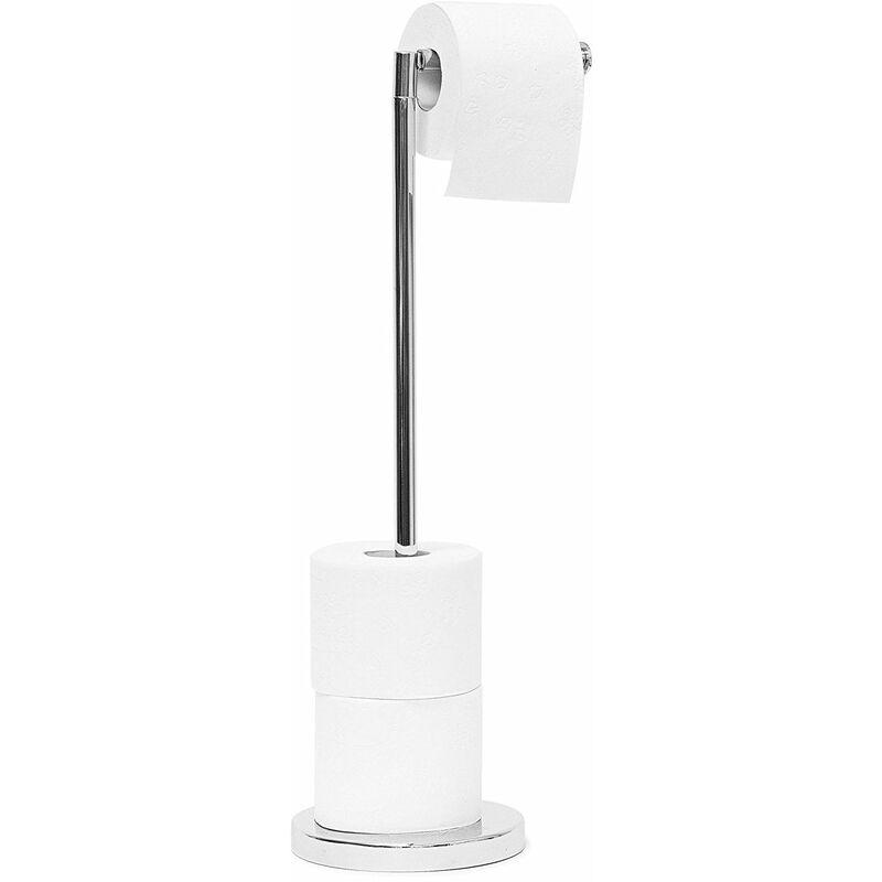 axentia Porte-Papier Toilette sur Pied en Acier Chrome Hauteur 51,5 cm,...