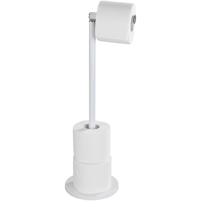 Porte papier wc sur pied blanc mat wenko 21424100 - Porte papier wc sur pied ...