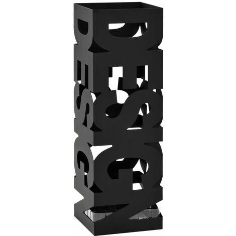 Porte-parapluie Design Acier Noir