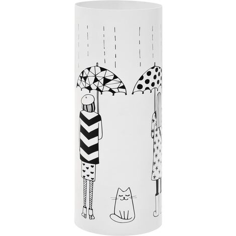 Porte-parapluie Femmes Acier Blanc