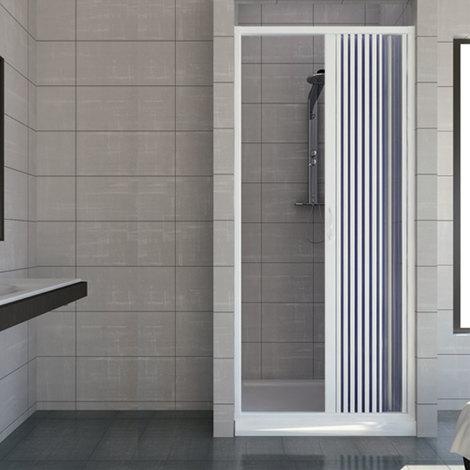 Porte paroi de douche en Plastique PVC mod. Vergine 75 cm avec ouverture latérale