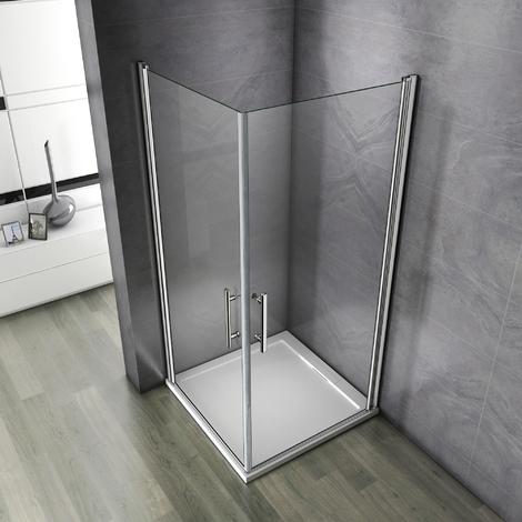 Porte pivotante de douche  paroi  cabine de douche verre anticalcaire
