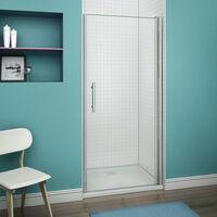 Porte pivotante de douche, paroi en niche verre anticalcaire