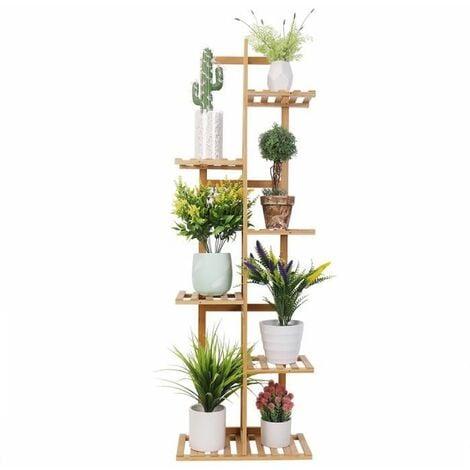 """main image of """"Porte Plante en Bambou - Étagère Fleurs Ehelle Extérieur Intérieur Design Vertical - 121.9x40x20.2cm - pour Maison Balcon Jardin Terrasse"""""""
