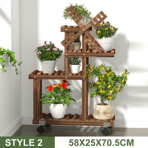 Porte-plantes - Pot de Fleur Support - Étagère Présentoir Jardin Patio Bureau Décoration TYPE 2