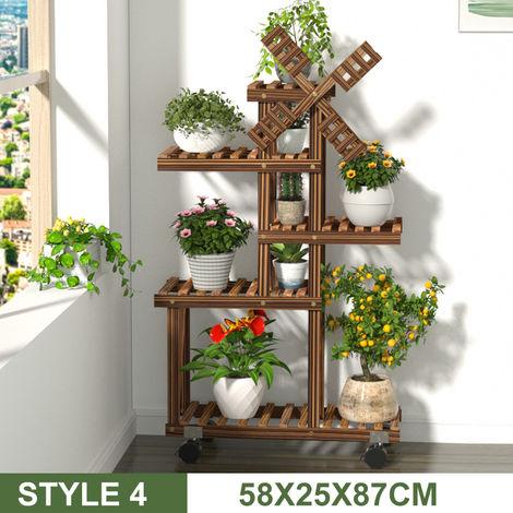 Porte-plantes - Pot de Fleur Support - Étagère Présentoir Jardin Patio Bureau Décoration TYPE 4