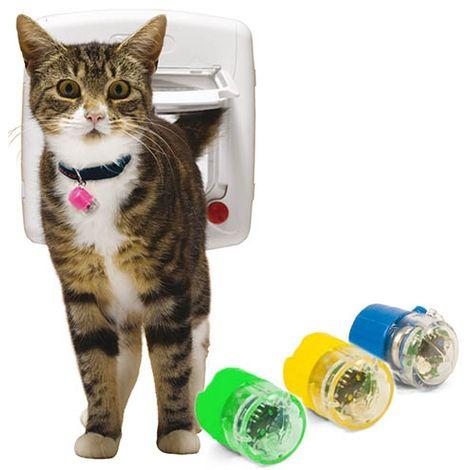 Porte pour chat à infrarouge disponible en plusieurs options