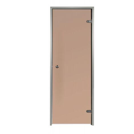 Porte pour Hammam Bronze 60 x 190 cm avec cadre en aluminium