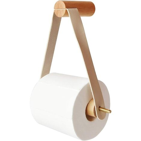 Porte Rouleau de Papier Toilette, Porte Rouleau en Bois Porte-papier de Toilette Mural en Creative