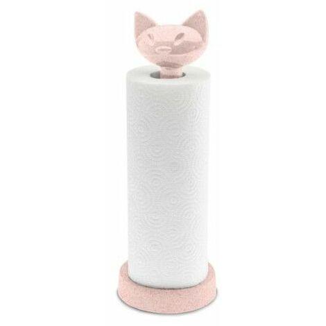Porte-rouleau essuie-tout Chat - Rose - Livraison gratuite