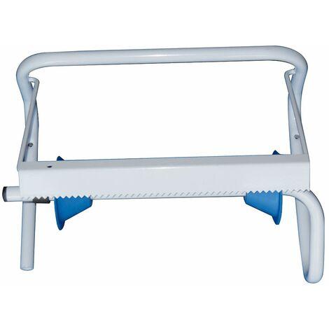 Porte-rouleau industriel | acier peint époxy | Blanc | 1 rôle | 390x225x280 | Rolind Basic | 1 pièce | medial
