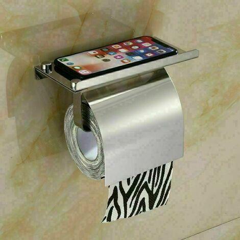 Porte Rouleau Papier - Dérouleur Support pour Sopalin Papier Essuie-Tout - sans percage sur Mur Support de Papier en Acier Inoxydable Adhésif Autocollante pour Cuisine Toilettes Bains,Argent