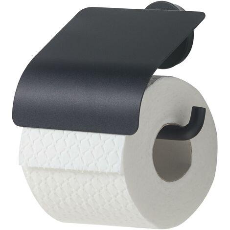 """main image of """"Porte-rouleau papier toilette avec rabat - Noir - Tiger Bold"""""""