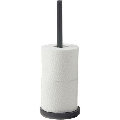 """main image of """"Porte-rouleau papier toilette avec reserve à poser - Noir - Tiger Urban"""""""