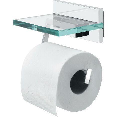 """main image of """"Porte-rouleau papier toilette avec tablette - Chrome - Tiger Safira"""""""