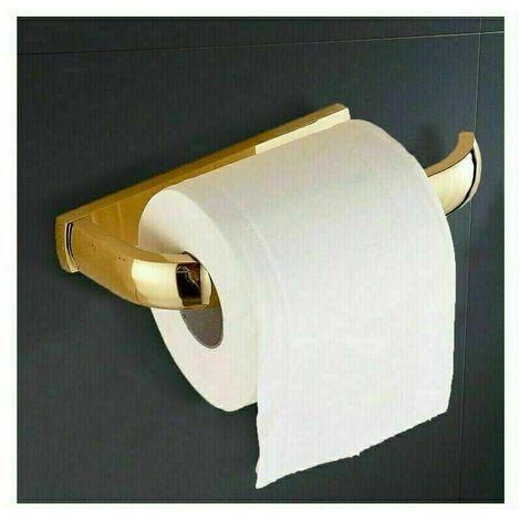"""main image of """"Porte Rouleau Papier Toilette Laiton Antique,Déco Murale WC,Dérouleur Papier Accessoire WC, Distributeur Papier WC-Accessoire Toilettes Salles de Bains"""""""