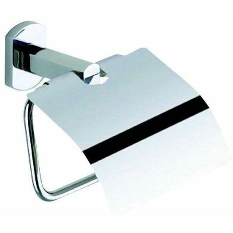 Porte-rouleau papier wc - Décor : Chromé - Hauteur : 141 mm - Largeur : 146 mm - Matériau : Acier inoxydable - Profondeur : 74 mm - OCMEI - Matériau : Acier inoxydable