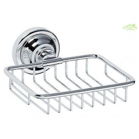 Porte-savon en grille RETRO en chrome 14x6,5x14,2 cm