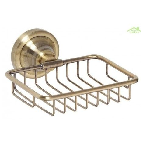Porte-savon en grille RETRO en laiton 14x6,5x14,2 cm