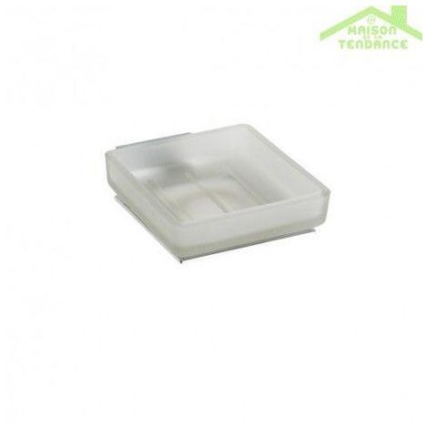 Porte-savon en verre PLAZA 13x10x4,5 cm