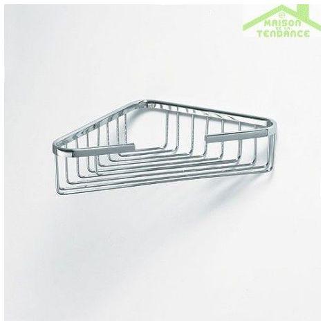 Porte-savon grille d'angle CYTRO en chrome 19x19x6cm