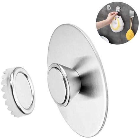 Porte-savon magnétique mural en acier inoxydable Distributeur de savon suspendu avec aimant pour lavabo de douche