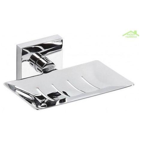 Porte-savon rectangulaire en chrome BETA 12,5cmx5,5cmx11,5cm