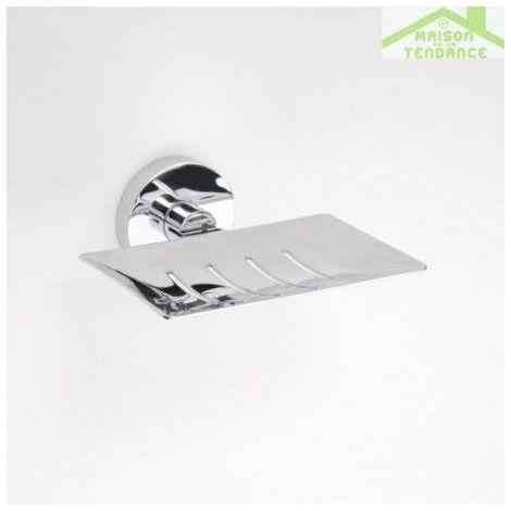 Porte-savon rectangulaire OMEGA en chrome 12,5x5,5x11,5cm