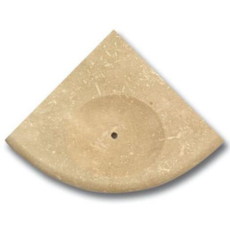 Porte savon travertin beige 15x15 cm