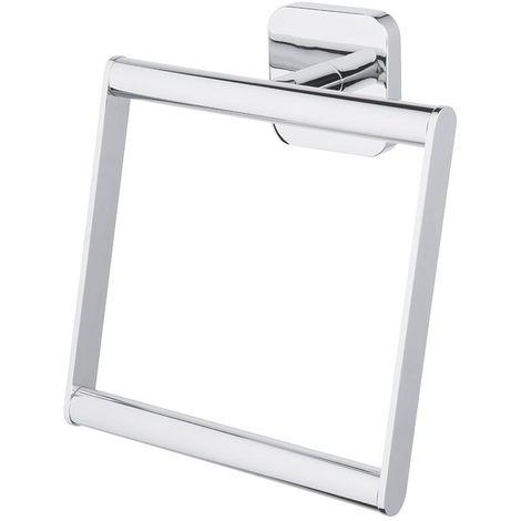 Porte serviette carré chromé serie FORTE ( à fixer ou à coller ) 166 x 166 x 52 mm / Couleur: Chromé / Référence: *06827