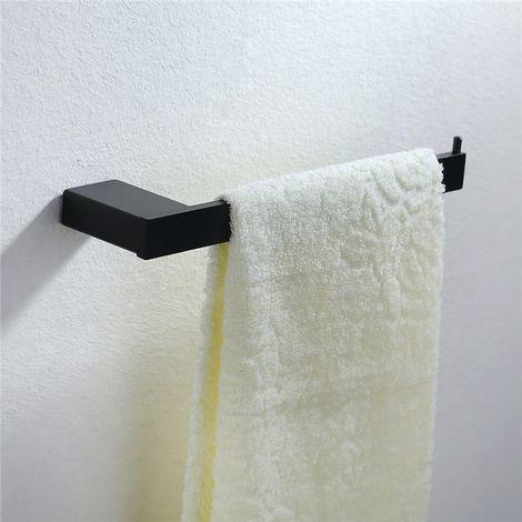 Porte Serviette En Acier Inox Peint Demi-Barre Idéal Pour Lavabo Toilettes 250x65.5x30mm Fixation Invisible