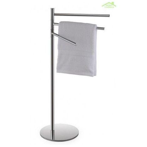 Porte serviette pivotant triple à poser OMEGA en chrome 37x85x25cm