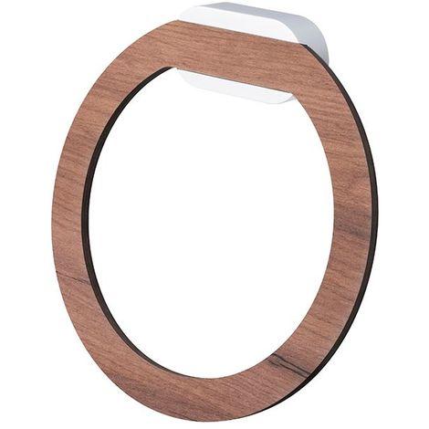 Porte serviette rond design serie BERGEN ( à fixer ou à coller) colle vendue séparemment 190 x 190 x 60 mm / Couleur: Bois / Référence: *07103