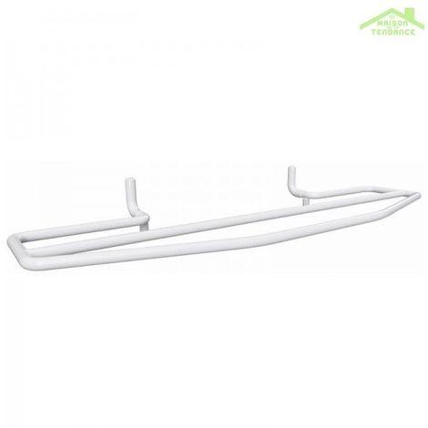 Porte-serviettes double blanc RAWELL pour radiateur 60x6,9x21,5 cm