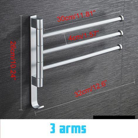 Porte-serviettes en Aluminium Serviette Suspendue Murale Salle de Bain Sasicare