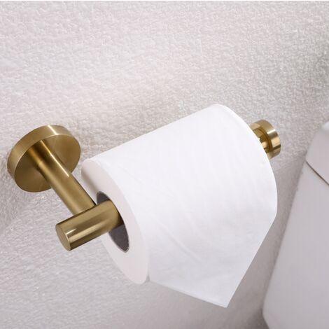 Porte-serviettes en papier Porte-serviettes mural Porte-serviettes en papier toilette mural SUS 304 en acier inoxydable (doré)