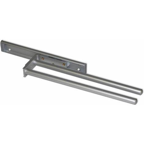 "main image of ""Emuca Porte-serviettes extensible, à 2 bras 310 mm, Aluminium, Blanc"""