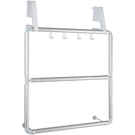 Porte-serviettes pour portes et cabines de douches Compact
